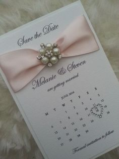 Perle Hochzeit sparen die Kalenderdaten von StylishStationery