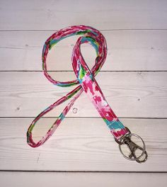 Roses Lanyard ID Badge Holder NEW THINNER design floral preppy / fabric / cute / patterns / key chain / office, nurse, student id, badge / key leash / gifts / key ring / id badge holder / badge holder / teachers gifts / teacher / coworkers / sports lanyard