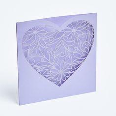 Heart laser cut invites #wedding #invitation #invites