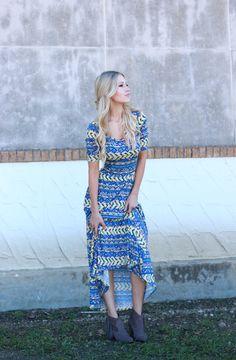The+Ana+dress | Lularoe | Maxi dress | Long dress |  Booties | Steve Madden