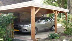 Carport van lariks, douglas of eikenhout ook leverbaar voor twee 2 auto's