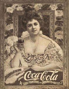 Cuándo se inventó la Coca Cola... Fue creada en 1886 por John Pemberton en la farmacia Jacobs de la ciudad de Atlanta, Georgia. Con una mezcla de hojas de coca y semillas de nuez de cola quiso crear un remedio, que comenzó siendo comercializado como una medicina que aliviaba el dolor de cabeza y disimulaba las náuseas; luego fue vendida en su farmacia como un remedio que calmaba la sed, a 5 centavos el vaso. (Cartel 1904)