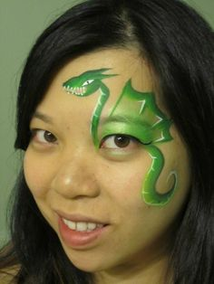 dragon face paint loved by http://makeupartistrycairns.com.au