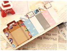 Sticky Bookmarks :  LUGGAGE Bon Voyage by HennytjCraftcottage