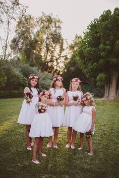 Flores Rustic Flower Girls, Wedding Planer, Dream Wedding, Wedding Day, Bridesmaid Dresses, Wedding Dresses, Floral Crown, Ever After, Big Day