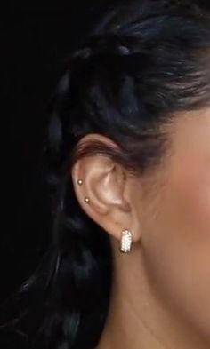 (Jasmean Brown) double mid cartilage peircing