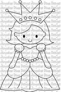 Digital Stamp  Pretty Pretty Princess by paperaddictions on Etsy