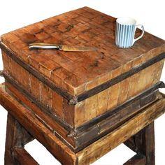 LOVE Maple Butcher Block Table (Vintage) 1269
