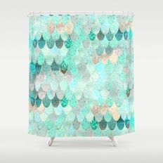 Shower Curtain featuring SUMMER MERMAID by Monika Strigel