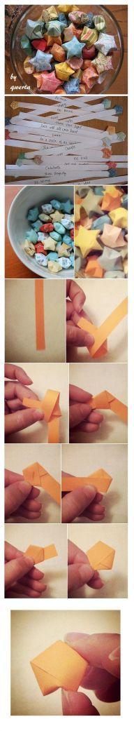3D origami stars