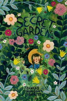 """phoebewahl: """" Cover for """"The Secret Garden"""" by Frances Hodgson Burnett For the final in my Contemporary Illustration class with Chris Buzelli I had to re-design/illustrate a cover for a classic book. Buch Design, Art Design, Pinturas Art Deco, Art And Illustration, Hipster Illustration, Secret Garden Book, Dibujos Cute, Beautiful Book Covers, Guache"""