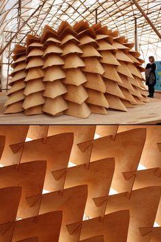 Dragon Skin Pavilion -- DESIGN   Kristof Crolla, Sebastien Delagrange, Emmi…(carapace , abriter)