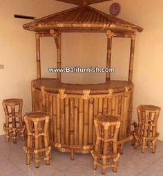 Home Furniture Fence Bamboo Hawaiian Patio Outdoor Tiki Bar Bamboo Art, Bamboo Crafts, Bali Huts, Outdoor Tiki Bar, Bamboo Furniture, Beach Furniture, Furniture Ads, Furniture Stores, Bamboo Building
