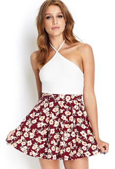 This floral print skirt is a summer necessity! It can be worn with crop tops, flowy tanks, and over-sized sweaters!