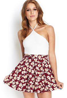 Floral Print Skater Skirt | FOREVER21 #F21Contemporary