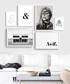 This Fashion Gallery-wall art Bundle is every fashionista's wet dream. It includes six fashion black and white wall art. Monochrome Gallery Wall Pre-made.