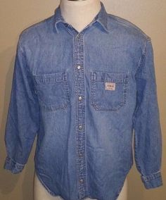 Men's Vintage Guess Casual Denim Long Sleeve Shirt Size Small #GUESS #ButtonFront