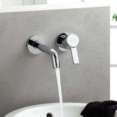 Kludi ZENTA Unterputz-Waschtisch-Zweiloch-Wand-Einhandmischer Ausladung: 230 mm