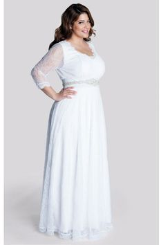 Article about choosing a plus size wedding gown for your body shape.
