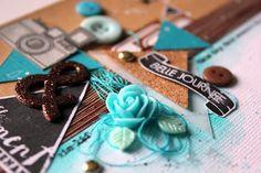 """Cardstocks, roses résine, embellissements collection """"Marronniers"""", pastilles et boutons Ephéméria by Séverine Breton Scrapbooking, Roses, Blog, Collection, Buttons, Pink, Scrapbook, Rose, Scrapbooks"""