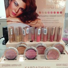 New Kardashian Beauty Pumped Up Collection - I want .. The Radiant Ombre Blush in Tender & Glimmer   As well as the Lip Plumping Shimmer Gloss Honey Flavored Lip Gloss in Rose Gold & Pumped Up Pink