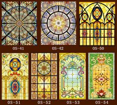Custom No glue static scrubs  translucent church stained glass windows and doors wardrobe furniture foil stickers-in Decorative Films from Home & Garden on Aliexpress.com | Alibaba Group