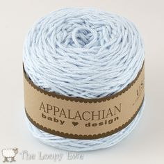 Sky Blue (194 yds) from Appalachian Baby Design #cottonyarn in #babycolors Made from Texas cotton in 194 yard cakes.