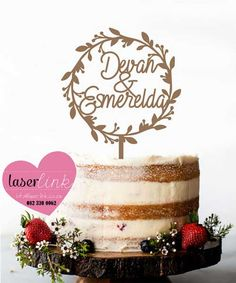 Custom made laser cut wedding and party cake toppers. Free Wedding, Party Cakes, Free Design, Cake Toppers, Birthday Cake, Place Card Holders, Shower Cakes, Birthday Cakes, Cake Birthday
