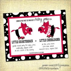 Baby Gender Reveal Party Invitation  Digital File by alefranks, $15.00
