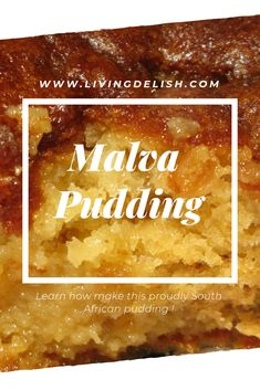 There is truly something special about Malva pudding, a real treat during the cold winter months. Served hot with some custard drizzled over. I can almost taste it! Learn how to make this proudly South African Pudding, you will fall in love. Pudding Desserts, Pudding Recipes, Cookie Desserts, South African Desserts, South African Recipes, Baking Recipes, Snack Recipes, Dessert Recipes, Oven Recipes