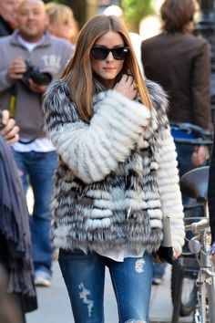 girl, fur, and olivia palermo image