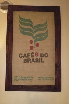 tableau avec sac à café toile de jute du Brésil : Décorations murales par lukilum
