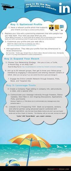 Cómo mejorar tu cuenta de Linkedin #infografia #infographic #socialmedia