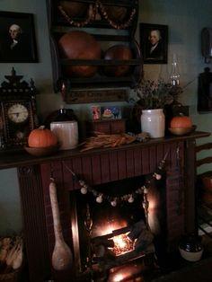 primitive fall mantel