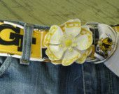 Georgia Tech Flower Power Belt
