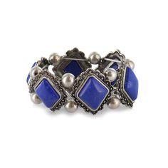 Shyanne Elastic Stone and Bead Bracelet $19.99