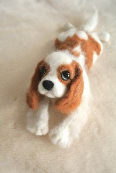 Mr. Cooper (View from the top left) #needlefelted #dog #cavalier