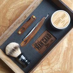 Handmade Cigar Box Straight Razor Shave Kit - Walnut Image of Handmade Cigar Box Straight Razor Shave Kit - Walnut Shaving Razor, Shaving Soap, Straight Razor Shaving Kit, Shaving Brush, Shaving & Grooming, Men's Grooming, Mens Beard Grooming, Men Beard, Men Stuff