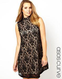 ASOS Sale plis size lace dress