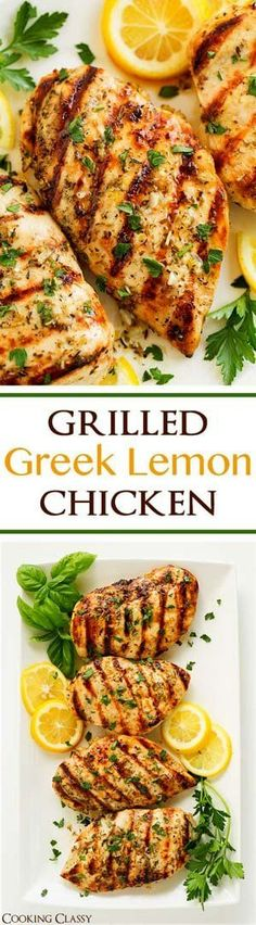 Grilled Greek Lemon Chicken - this chicken is so easy to prepare and it's deliciously flavorful! A go to dinner recipe! Marinated and grilled to perfection! dinner next week? New Recipes, Dinner Recipes, Healthy Recipes, Cake Recipes, Recipies, Grilled Dinner Ideas, Healthy Grilled Chicken Recipes, Celiac Recipes, Grilled Food
