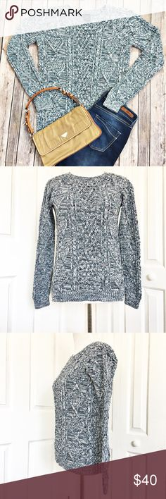 """Gap Sweater Keep warm on those chilly night with this marbled blue sweater by Gap.  Sweater is in excellent condition.  Very soft and made of 100% cotton.  Measurements laid flat: bust 17.5"""" and length from top of shoulder to hem 25.5"""" GAP Sweaters Crew & Scoop Necks"""