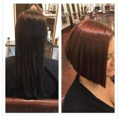 Beautiful new before & After ,Fall look by Kristen @ Michael Christopher's . Kristen does precision cuts and amazing color . Call 302 658 0842 Click here for our price list http://www.michaelchristopher.com/hair.html
