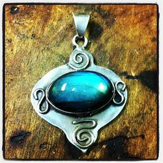 reiki charged labradorite and sterling pendant by Gypsy Peacock Jewelry https://www.etsy.com/listing/105427908/reiki-charged-sterling-and-labradorite?ref=v1_other_2    contemporary metal jewelry/artisan jewelry/silversmith jewelry