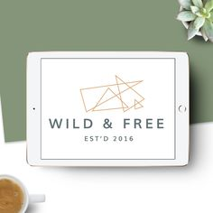 Premade logo to help you start your branding. Smart alternative to creating your own logos. Geometric, girly, simple