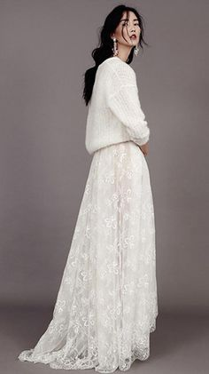 Bridal sweater wedding dress by Kavier Gauche