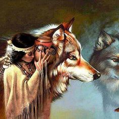 44 Ideas native american history wolves for 2019 Native American Wolf, Native American Paintings, Native American Wisdom, Native American Pictures, Native American Beauty, Indian Pictures, American Indian Art, Native American History, American Indians