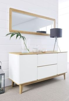 Copenhagen Sideboard from Next Oh love this! I love the contrast between the natural wood and white, and the Scandinavian style is very modern!