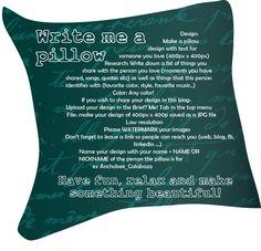 Lovely new creative brief! Write me a pillow http://anchobee.com/blog/writemeapillow/ via @anchobee_com #design #art #creativebrief #inspiration