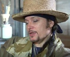 Screenshot of Adam Ant on itv news on his up coming tour Kings of The Wild Frontier 2016