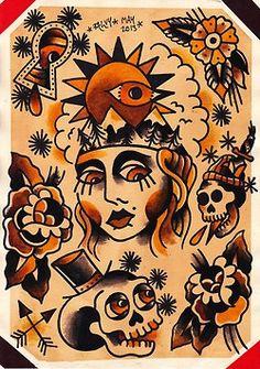 Traditional Tattoo Flash Art